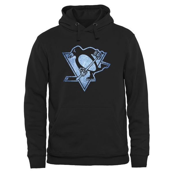 2016 NHL Pittsburgh Penguins Rinkside Pond Hockey Pullover Hoodie - Black