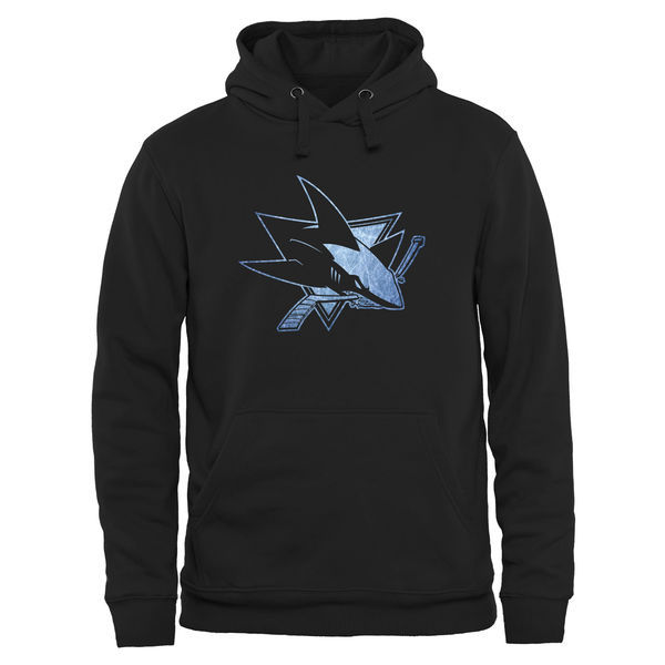 2016 NHL San Jose Sharks Rinkside Pond Hockey Pullover Hoodie - Black