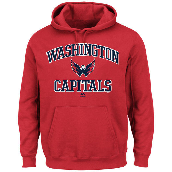 2016 NHL Washington Capitals Majestic Heart & Soul Hoodie - Red