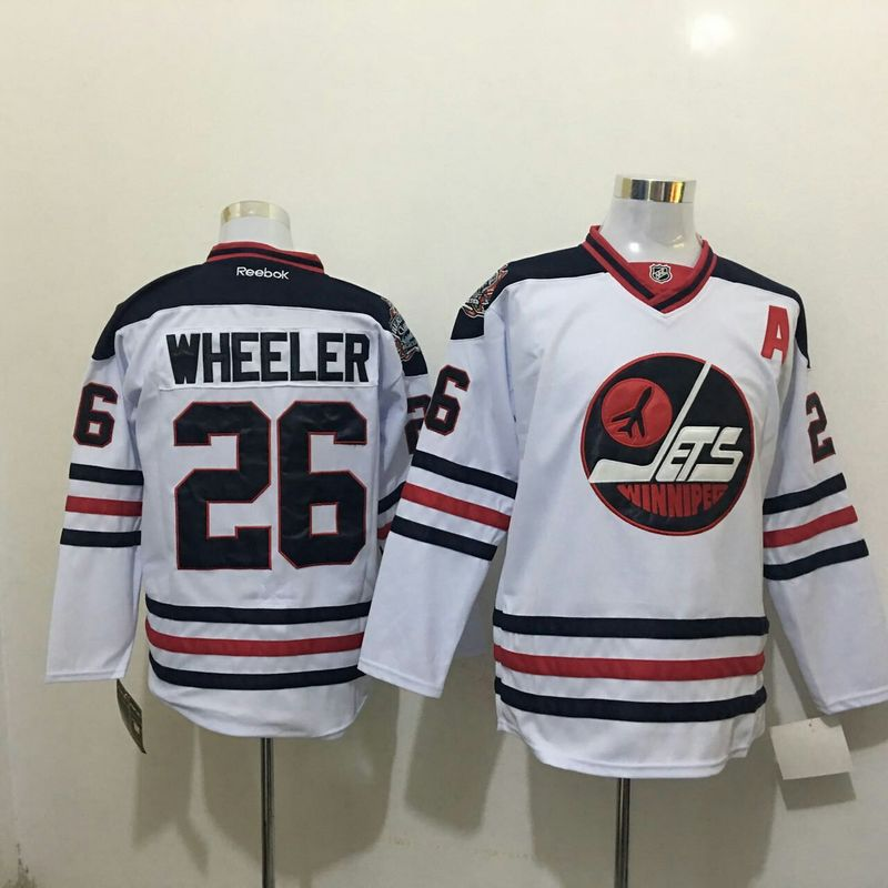 2016 NHL Winnipeg Jets 26 Wheeler White Jerseys