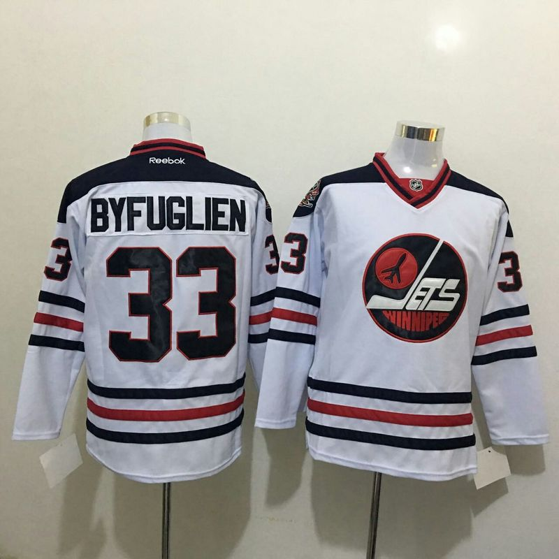 2016 NHL Winnipeg Jets 33 Byfuglien White Jerseys