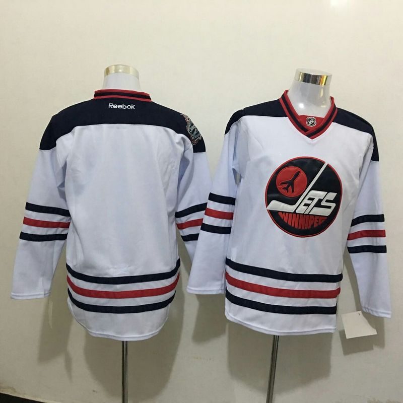 2016 NHL Winnipeg Jets Blank White Jerseys