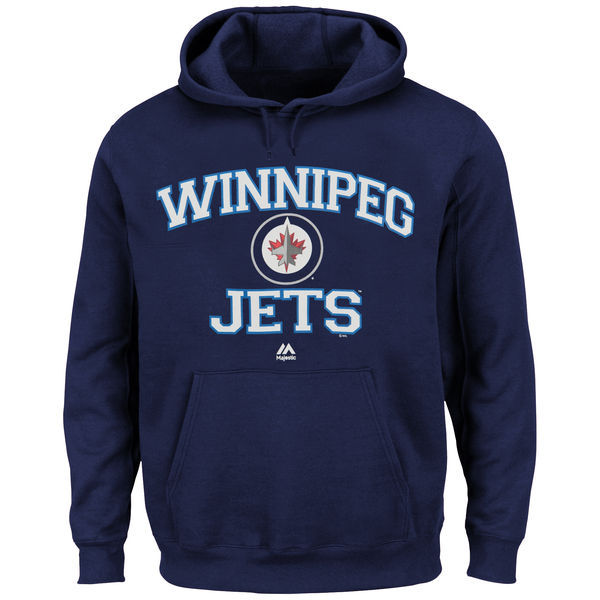 2016 NHL Winnipeg Jets Majestic Heart & Soul Hoodie - Navy Blue