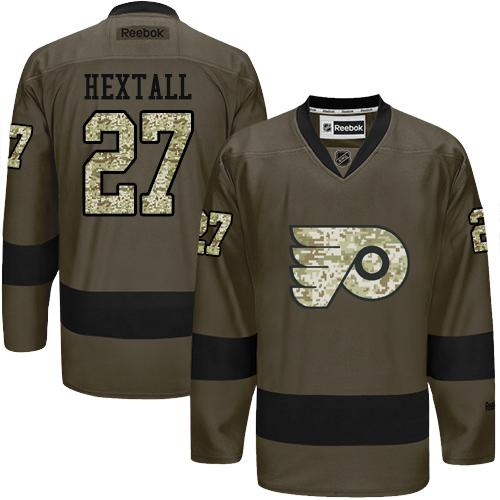 2016 Philadelphia Flyers 27 Ron Hextall Green Salute to Service Stitched NHL Jersey