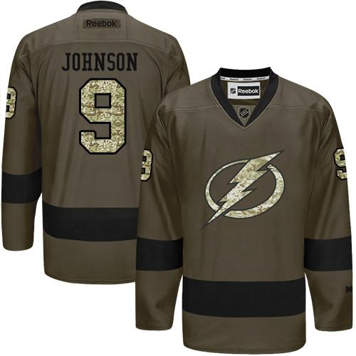 2016 Tampa Bay Lightning 9 Tyler Johnson Green Salute to Service Stitched NHL Jersey