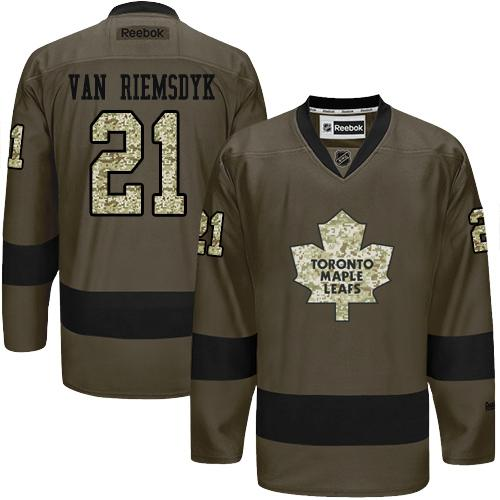 2016 Toronto Maple Leafs 21 James Van Riemsdyk Green Salute to Service Stitched NHL Jersey