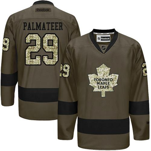 2016 Toronto Maple Leafs 29 Mike Palmateer Green Salute to Service Stitched NHL Jersey