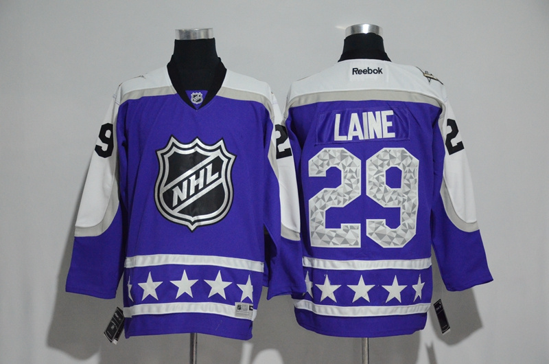 2017 NHL 29 Laine blue All Star jerseys