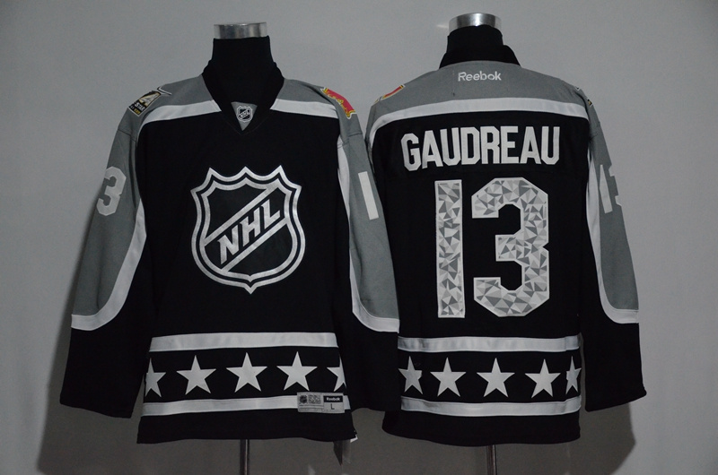 2017 NHL Calgary Flames 13 Gaudreau black All Star jerseys