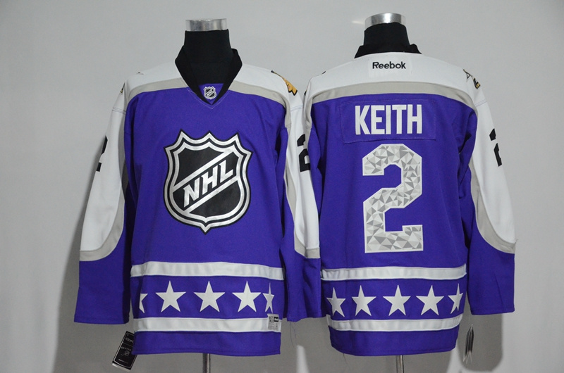 2017 NHL Chicago Blackhawks 2 Keith blue All Star jerseys