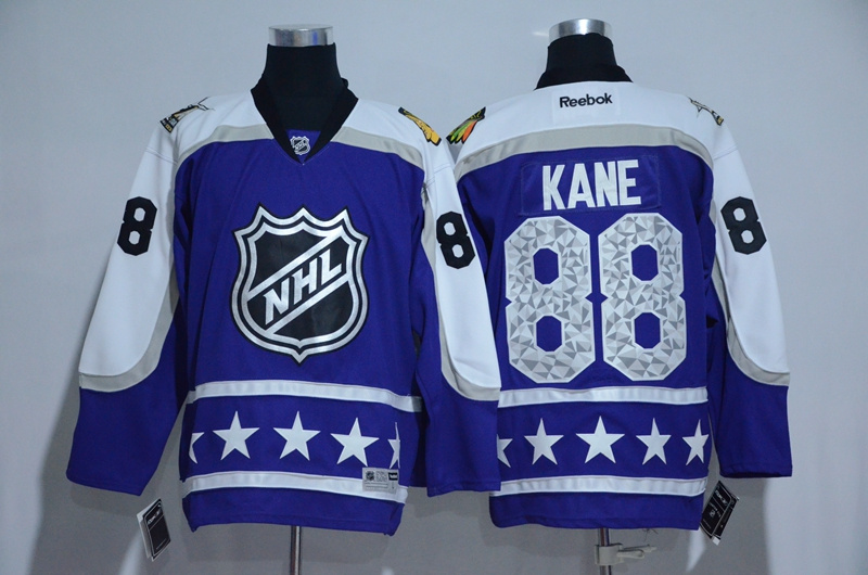 2017 NHL Chicago Blackhawks 88 Kane blue All Star jerseys