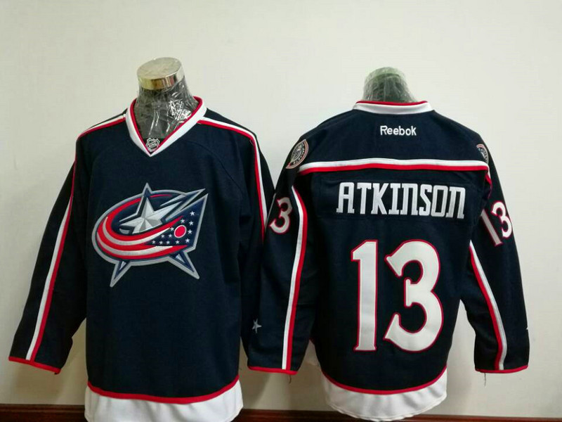 2017 NHL Columbus Blue Jackets 13 Cam Atkinson Blue Jerseys