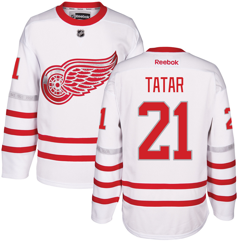 2017 NHL Detroit Red Wings 21 Tatar White Jerseys