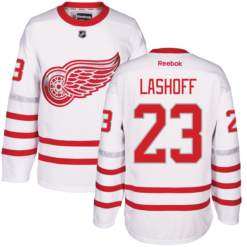 2017 NHL Detroit Red Wings 23 Lashoff White Jerseys
