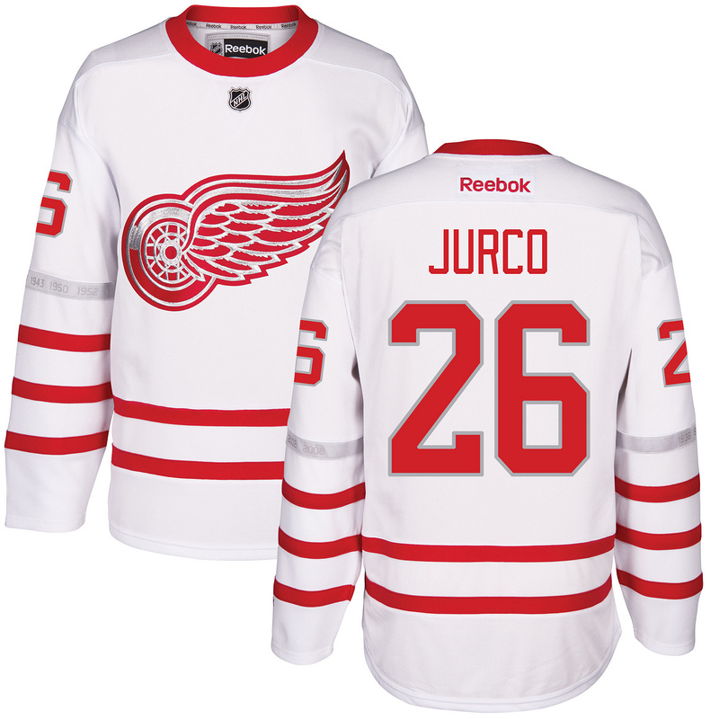 2017 NHL Detroit Red Wings 26 Jurco White Jerseys