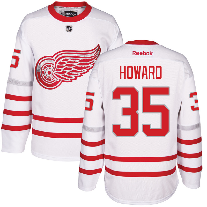 2017 NHL Detroit Red Wings 35 Howard White Jerseys