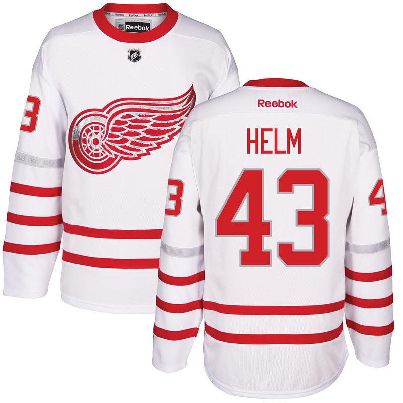 2017 NHL Detroit Red Wings 43 Helm White Jerseys