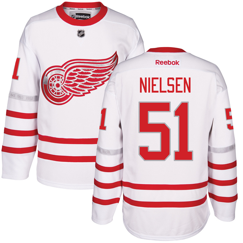 2017 NHL Detroit Red Wings 51 Nielsen White Jerseys