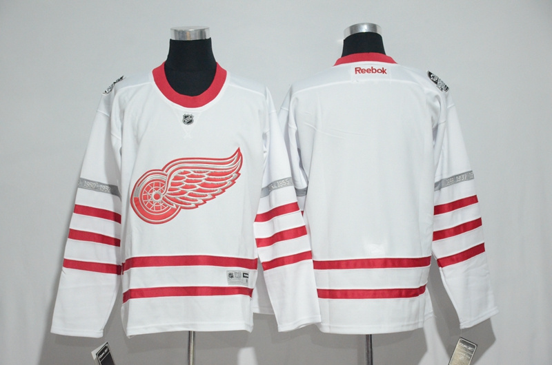 2017 NHL Detroit Red Wings blank White Jerseys