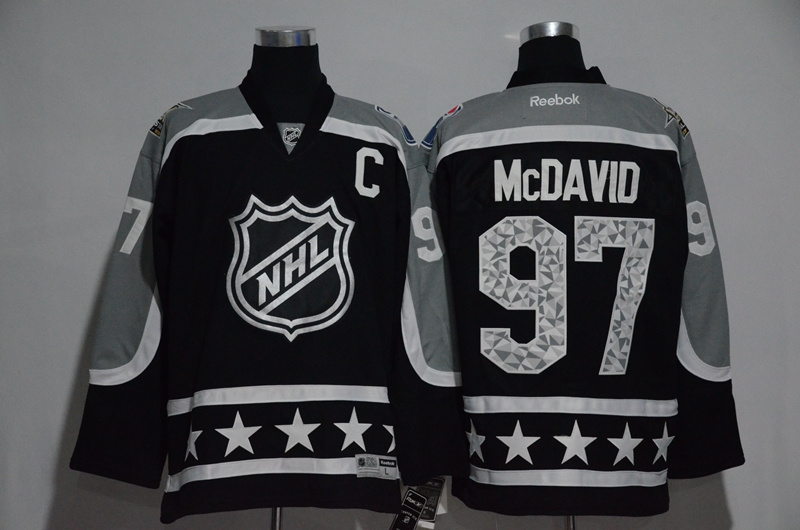 2017 NHL Edmonton Oilers 97 McDavid black All Star jerseys