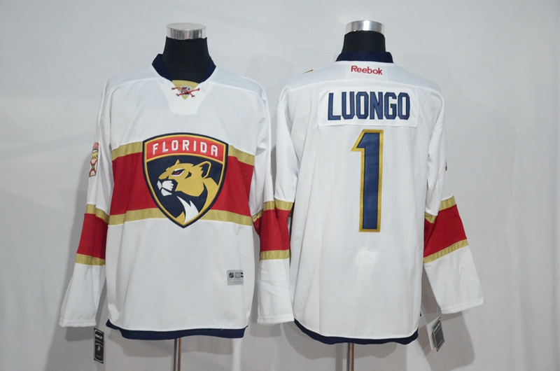 2017 NHL Florida Panthers 1 Luongo white Jerseys