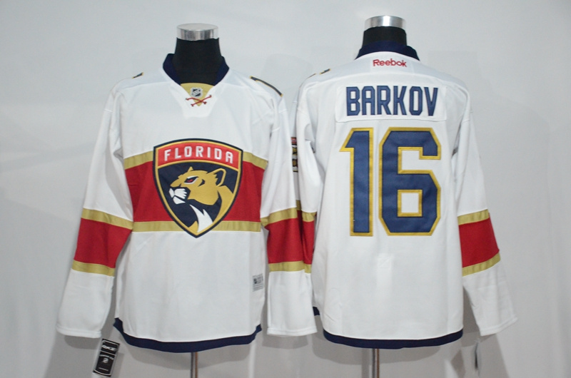 2017 NHL Florida Panthers 16 Barkov white Jerseys