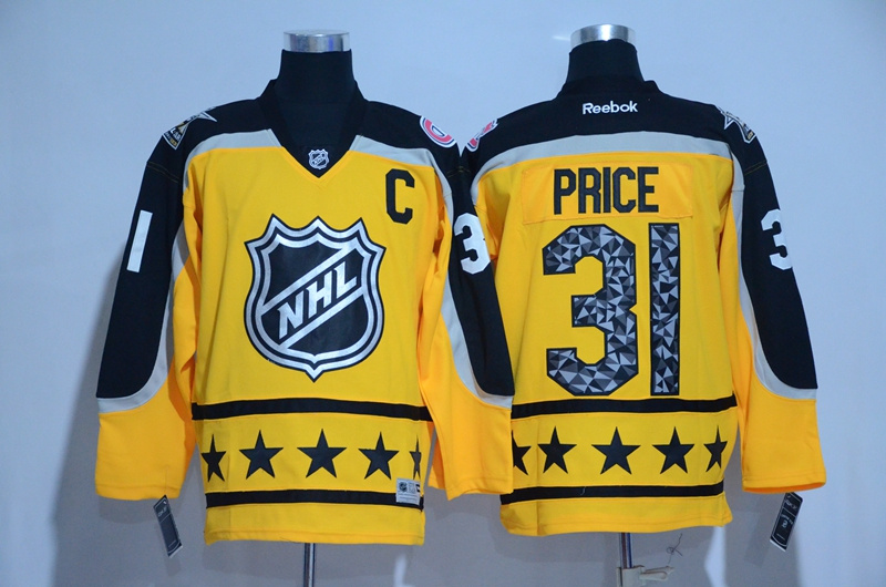 2017 NHL Montreal Canadiens 31 Price yellow All Star jerseys