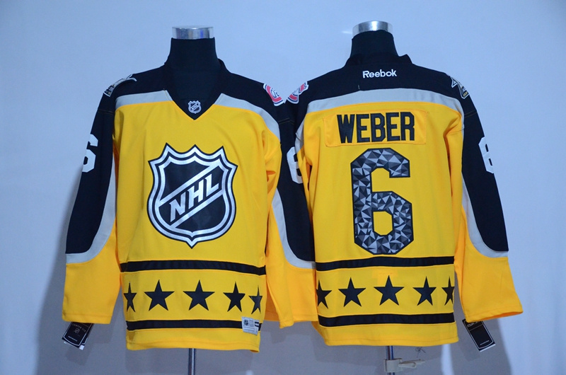 2017 NHL Montreal Canadiens 6 Weber yellow All Star jerseys