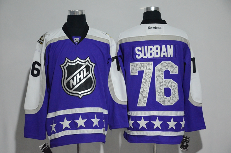 2017 NHL Nashville Predators 76 Subban blue All Star jerseys
