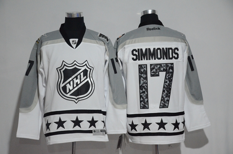 2017 NHL Philadelphia Flyers 17 Simmonds white All Star jerseys