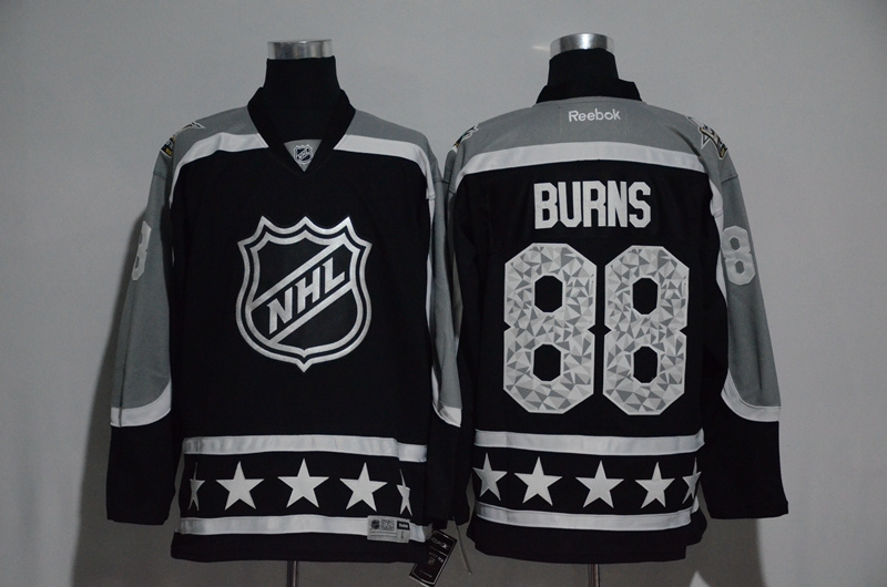 2017 NHL San Jose Sharks 88 Burns black All Star jerseys