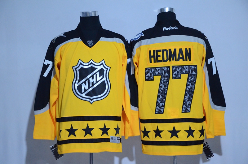 2017 NHL Tampa Bay Lightning 77 Hedman yellow All Star jerseys