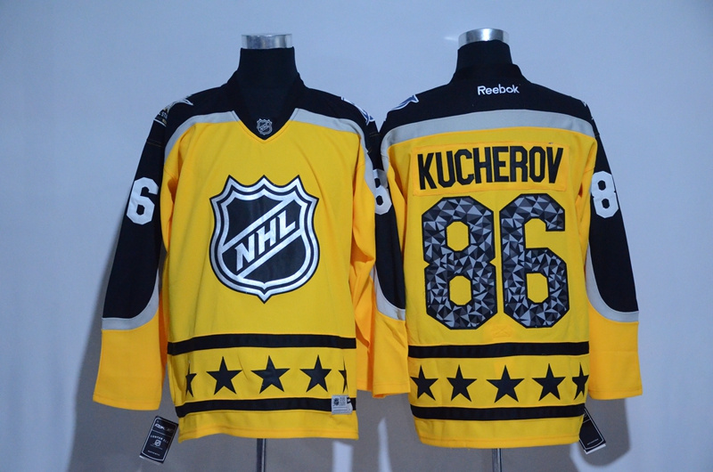 2017 NHL Tampa Bay Lightning 86 Kucherov yellow All Star jerseys