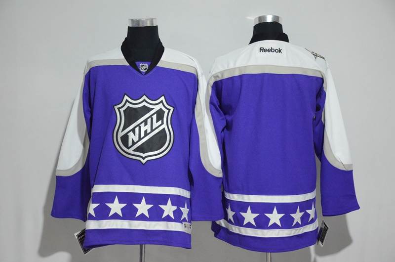 2017 NHL blank blue customzied All Star jerseys