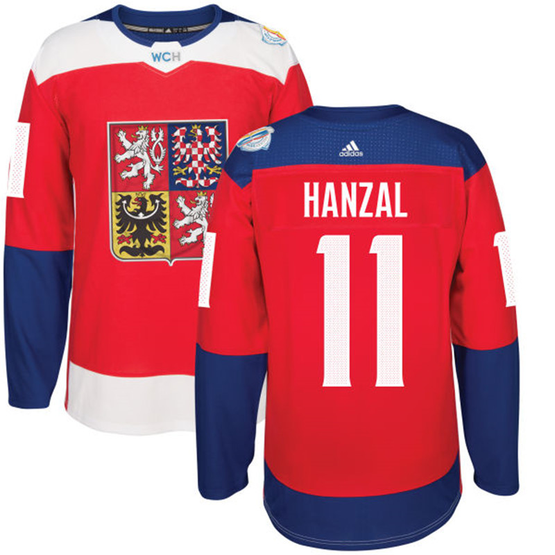 Czech Republic Hockey 11 Hanzal red World Cup of Hockey 2016 adidas Stitched Jersey
