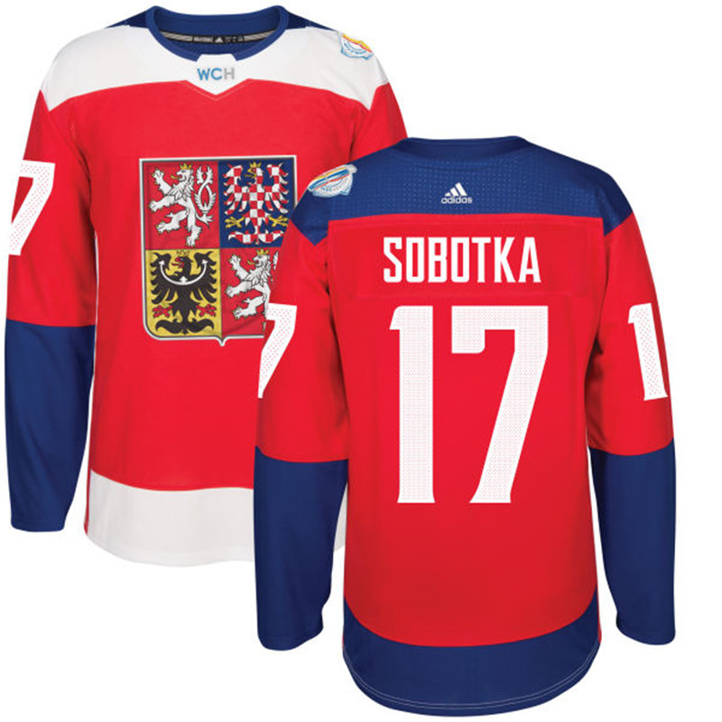 Czech Republic Hockey 17 Sobotka red World Cup of Hockey 2016 adidas Stitched Jersey