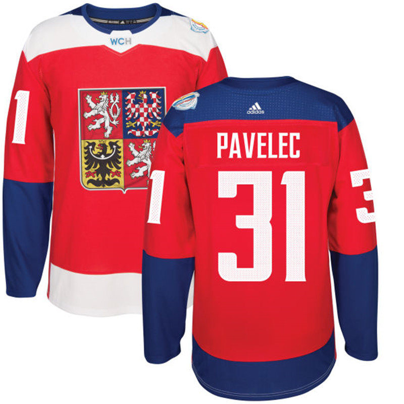 Czech Republic Hockey 31 Pavelec red World Cup of Hockey 2016 adidas Stitched Jersey