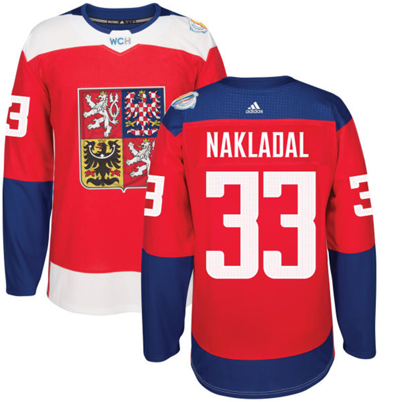 Czech Republic Hockey 33 Nakladal red World Cup of Hockey 2016 adidas Stitched Jersey