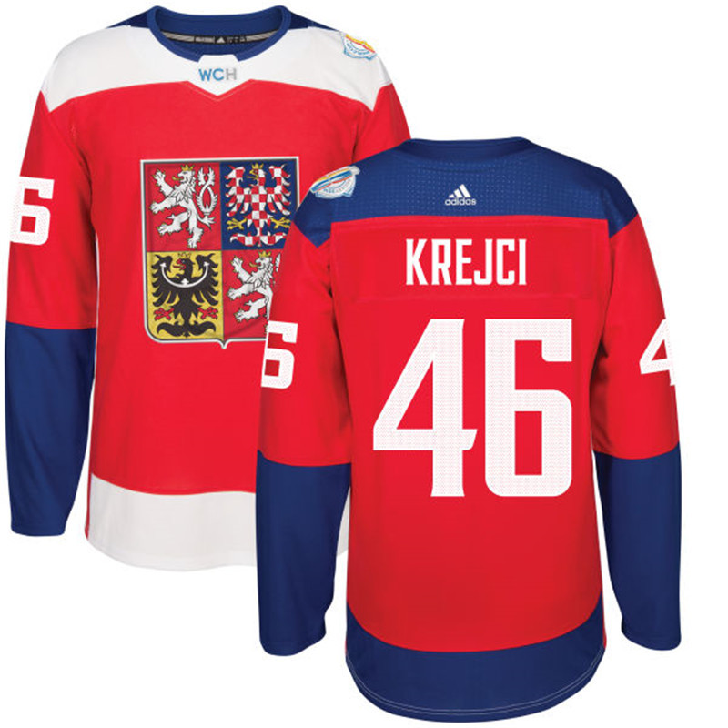 Czech Republic Hockey 46 Krejci red World Cup of Hockey 2016 adidas Stitched Jersey