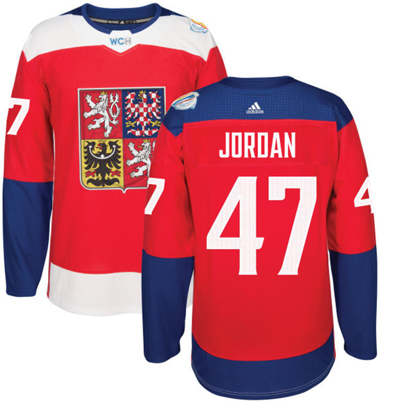 Czech Republic Hockey 47 Jordan red World Cup of Hockey 2016 adidas Stitched Jersey