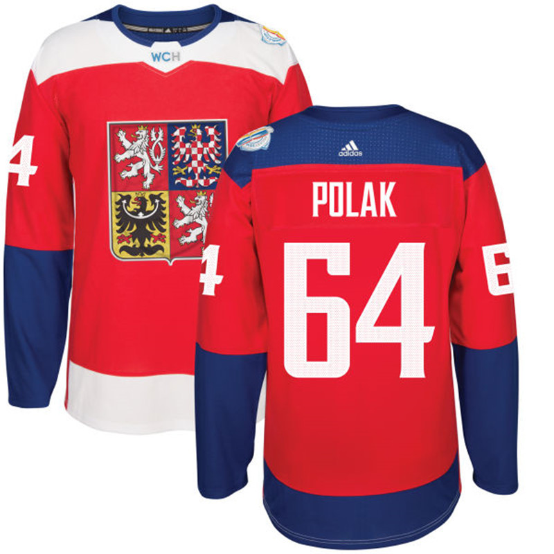 Czech Republic Hockey 64 Polak red World Cup of Hockey 2016 adidas Stitched Jersey