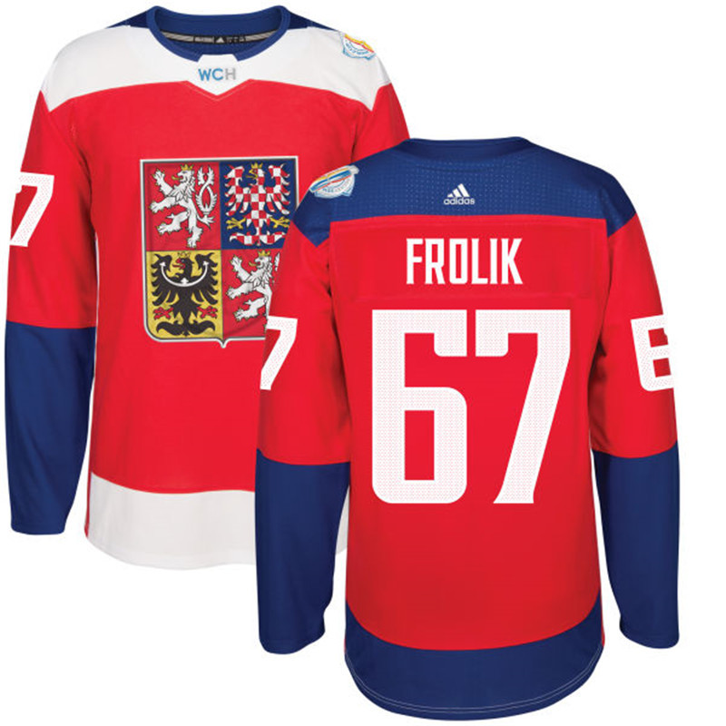 Czech Republic Hockey 67 Frolik red World Cup of Hockey 2016 adidas Stitched Jersey