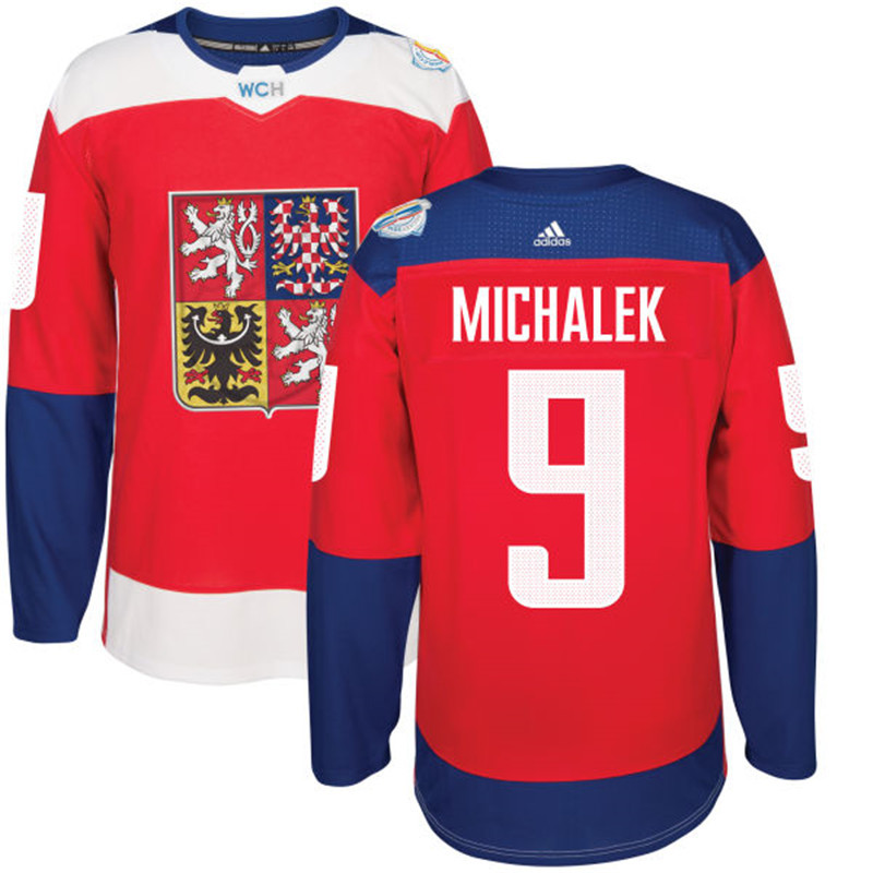 Czech Republic Hockey 9 Michalek red World Cup of Hockey 2016 adidas Stitched Jersey
