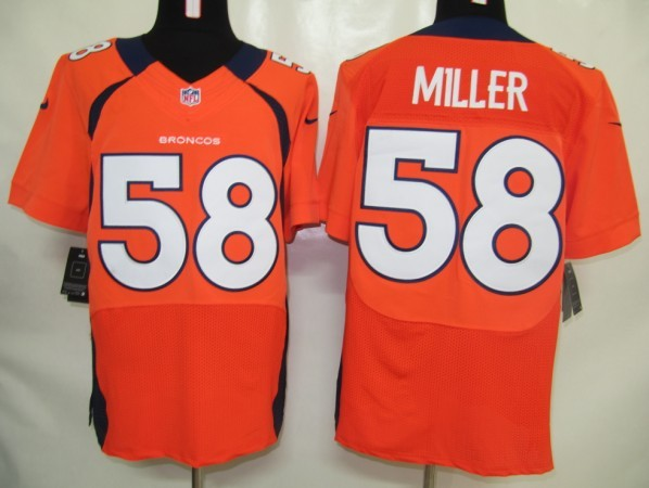 NFL Customize Denver Broncos 58 Miller Orange Nike Elite Jersey