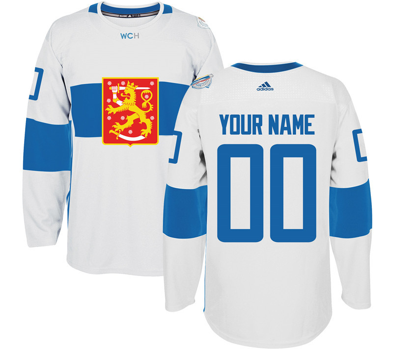 Finland Hockey 00 Mens Blue World Cup of Hockey 2016 adidas Stitched Customized Jersey