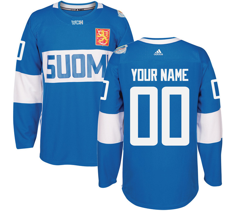 Finland Hockey 00 Mens white World Cup of Hockey 2016 adidas Stitched Customized Jersey