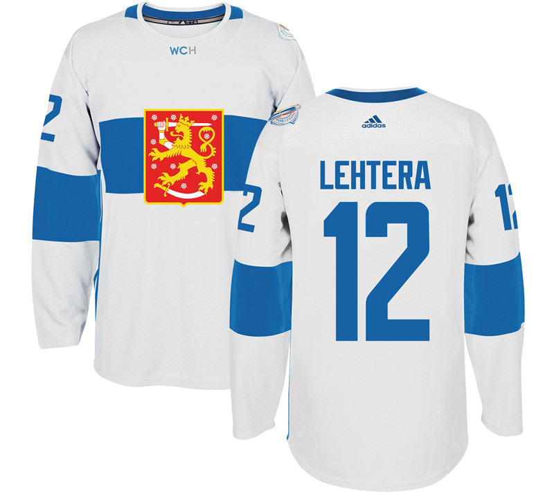 Finland Hockey 12 Jori Lehtera White World Cup of Hockey 2016 adidas Mens Stitched Jersey