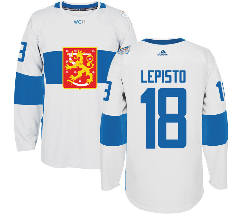 Finland Hockey 18 Sami Lepisto White World Cup of Hockey 2016 adidas Mens Stitched Jersey