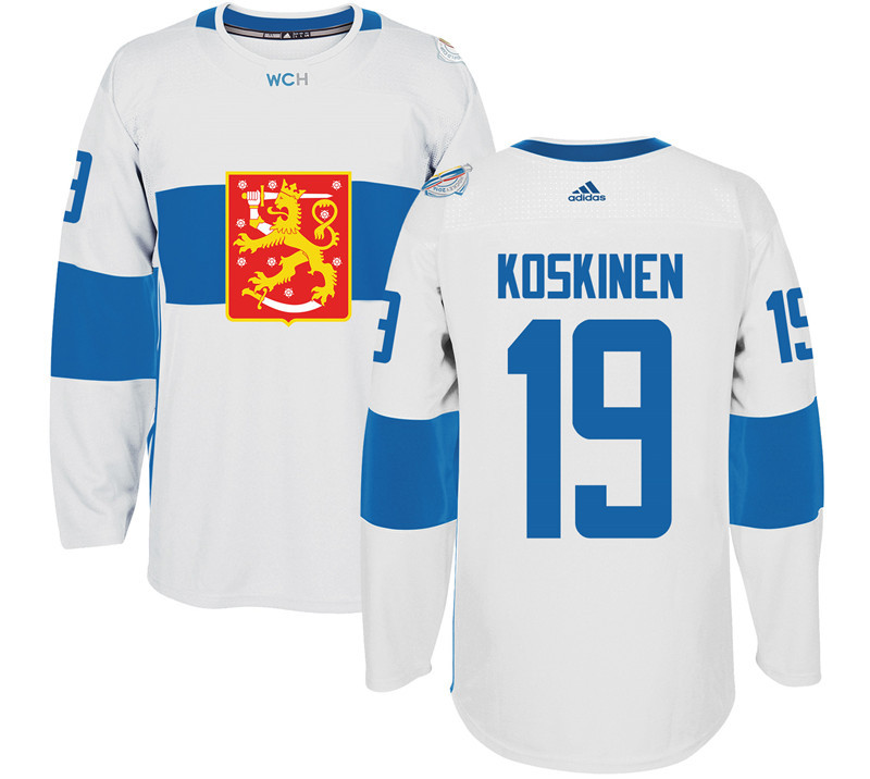 Finland Hockey 19 Mikko Koskinen White World Cup of Hockey 2016 adidas Mens Stitched Jersey