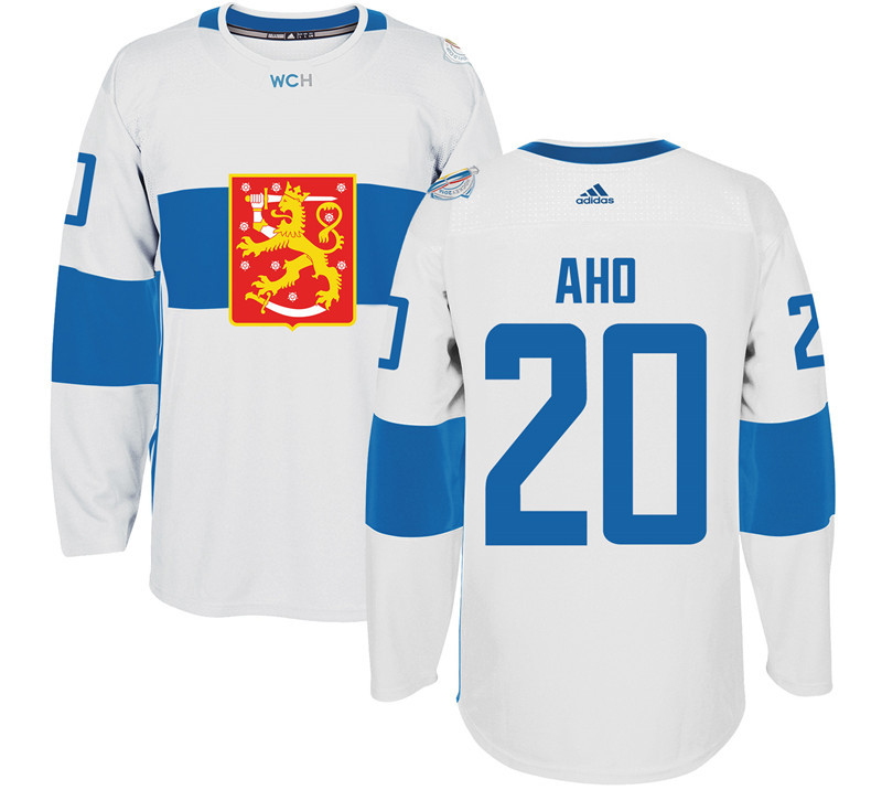 Finland Hockey 20 Sebastian Aho White World Cup of Hockey 2016 adidas Mens Stitched Jersey